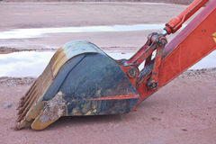 Backhoe Claw bucket Royalty Free Stock Photos