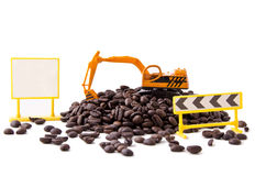 Backhoe and coffee beans (2) Stock Photography