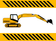 Backhoe construction machine vector Royalty Free Stock Image
