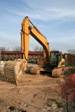 Backhoe at a Construction Site stock image