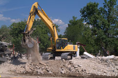 Backhoe digger Stock Photos