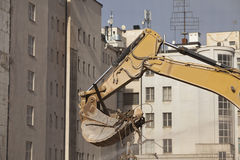 Backhoe of excavation vehicle Royalty Free Stock Photos