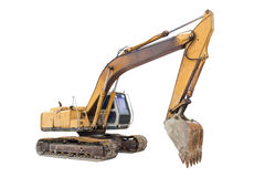 Backhoe. Or excavator machine include clipping path royalty free stock photo