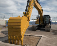 Backhoe Heavy Equipment Construction Zone Royalty Free Stock Images