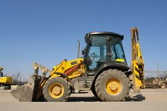 Backhoe loader Royalty Free Stock Photos