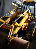 Backhoe loader. In construction site Royalty Free Stock Image