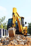 Backhoe loader clearing land. For construction Royalty Free Stock Photography