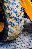 Backhoe Loader Front Detail Stock Photo