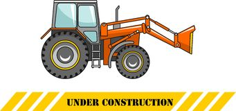 Backhoe loader. Heavy construction machine. Vector Royalty Free Stock Photos
