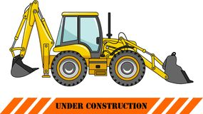 Backhoe loader. Heavy construction machines Royalty Free Stock Photos