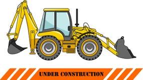 Backhoe loader. Heavy construction machines Royalty Free Stock Photos