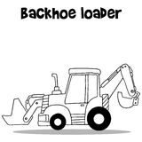 Backhoe loader for industry cartoon Royalty Free Stock Photo