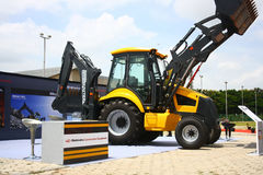 Backhoe Loader from Mahindra Construction Equipments Stock Image