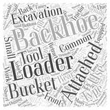 Backhoe Loader word cloud concept  background Royalty Free Stock Photo