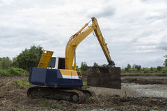 Backhoe Loader Stock Image
