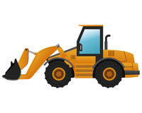 Backhoe machine icon Royalty Free Stock Images