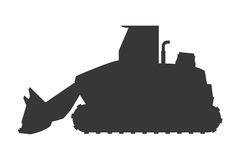 Backhoe machine icon Royalty Free Stock Image