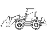 Backhoe machine icon Royalty Free Stock Photo