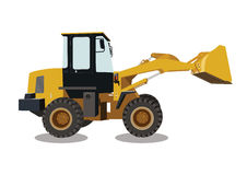 Backhoe, machinery car, construction sign vector Stock Photo