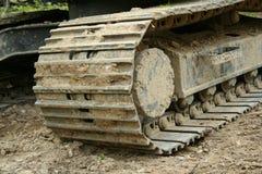 Backhoe tracks Stock Images