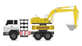 Backhoe_truck Royalty Free Stock Image