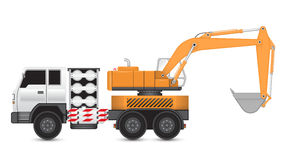 Backhoe_truck Royalty Free Stock Photography