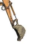 Backhoe wapen met emmer royalty-vrije stock fotografie