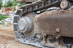 Backhoe wheel Stock Image