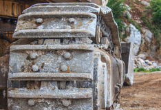 Backhoe wheel Stock Photography