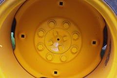 Backhoe wheel Stock Image