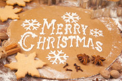 Backing ginger bread cookies Stock Photography
