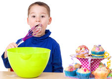 Backing muffins Royalty Free Stock Image