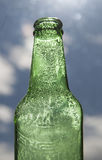 Backlight beer bottles Royalty Free Stock Photo