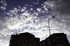 Backlight city Stock Image