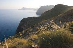 Backlight in the coastal landscape Stock Photo