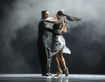 Backlight faceta twarda tożsamość tango tana dramat Zdjęcie Royalty Free