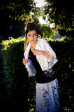 backlight mody dziewczyny słońce nastoletni Zdjęcie Stock