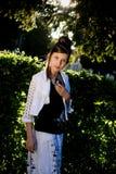 backlight mody dziewczyny słońce nastoletni Obrazy Stock