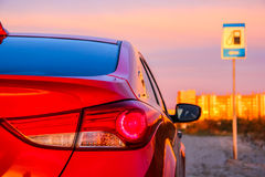 Backlight of the motor car Stock Photography