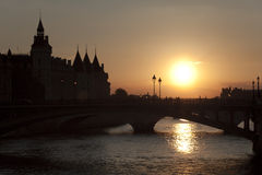 Backlight in Paris Stock Photos