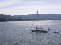 Backlight sailboat 2 Royalty Free Stock Photography