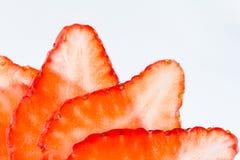 Backlight strawbery slices Royalty Free Stock Photo