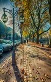 Backlight street scenery in Germany royalty free stock photo