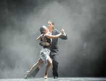 Backlight tough guy-the identity of the mystery-Tango Dance Drama Stock Image