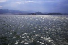 Backlight watch the coast of zhangzhou city Royalty Free Stock Photos