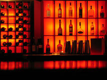 backlighted bottles club bar background