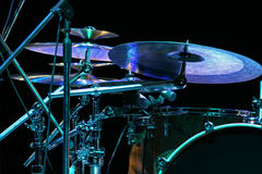 Backlighted drum set Stock Images