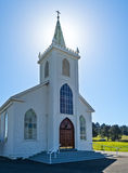 Backlighting, church in Bodega, California Stock Image