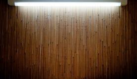 Backlighting di bambù della stuoia Immagini Stock