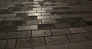 Backlighting di pietra al suolo Fotografia Stock